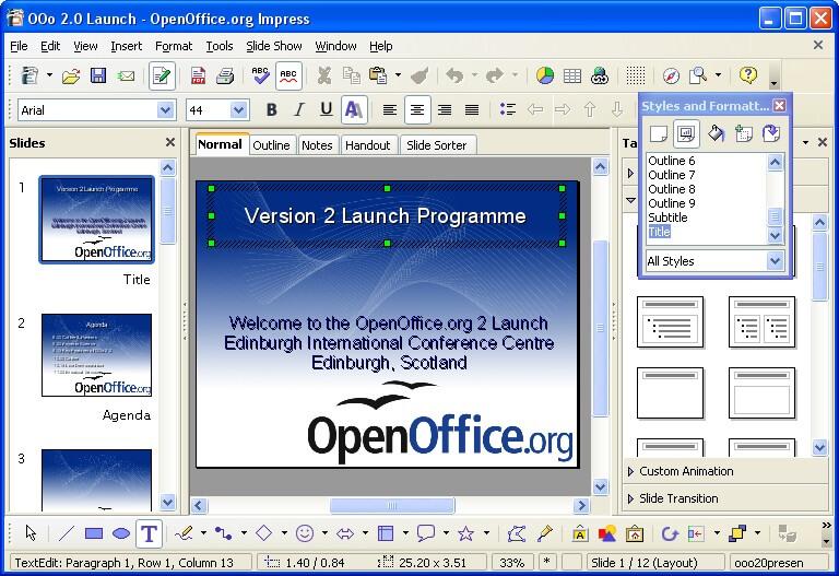 Программу для презентации openoffice