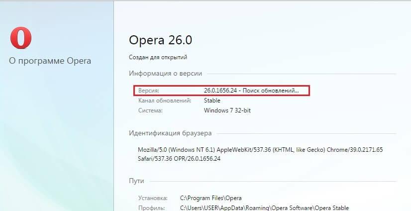В результате таких действий на экране появится системное окно, в котором автоматически проверится наличие обновлений для браузера: