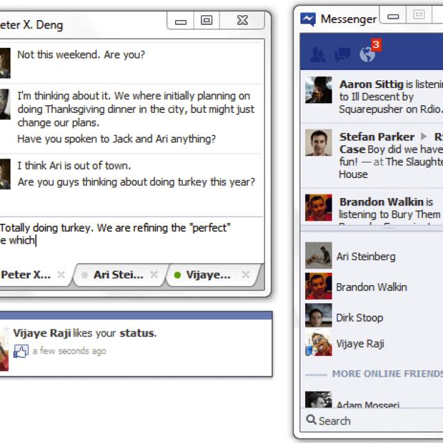 Интерфейс фейсбука для ПК