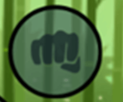 Кнопка «Кулак» - ударить врага