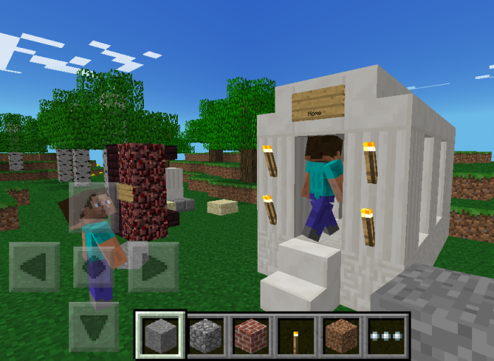 Геймплей Minecraft Pocket Edition