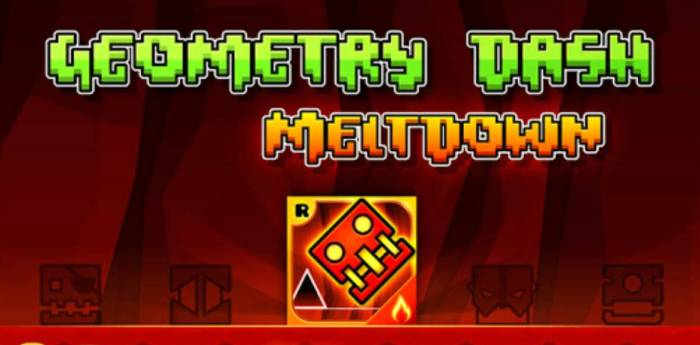 Игра Geometry Dash Meltdown