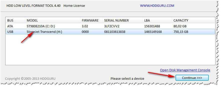 Быстрое низкоуровневое форматирование жесткого диска