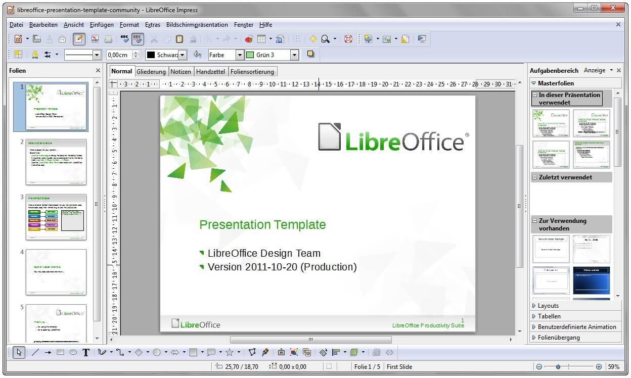 LibreOffice Impress еще программа для презентаций