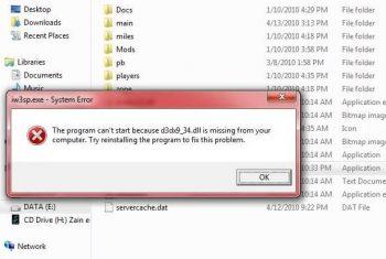 Скачать d3dx9 34 dll для windows 7.