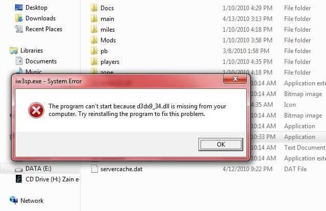 Скачать d3dx9 34.dll и что это за ошибка?