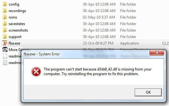 Скачать d3dx9 42 dll для Windows 7