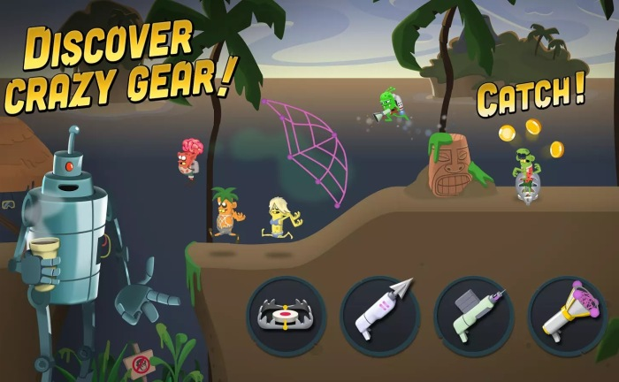Геймплей Zombie Catchers