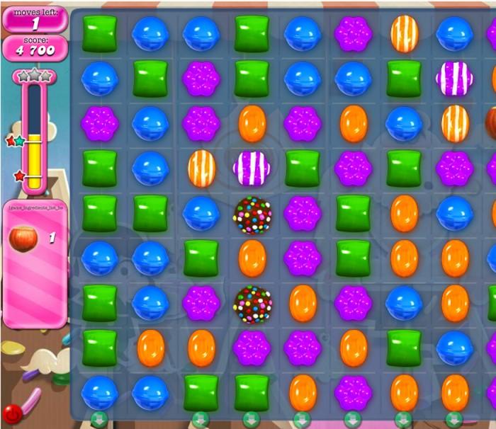 Геймплей в Candy Crush Saga