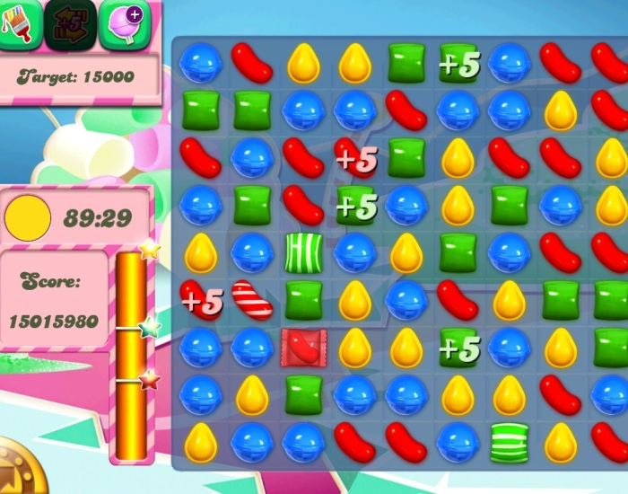 Головоломки в Candy Crush Saga