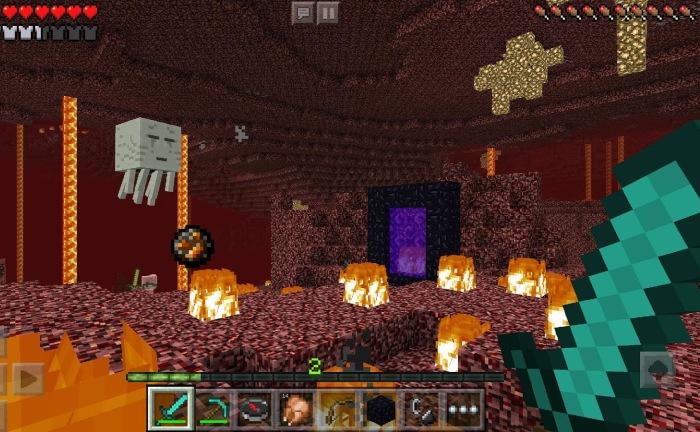 Игровой процесс Minecraft Pocket Edition