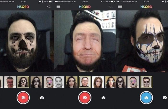 Интерфейс MSQRD