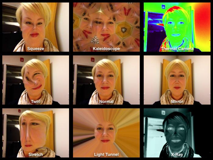 Смешные лица в Photo Booth