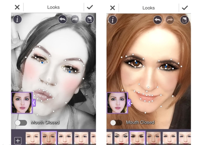 Удобный интерфейс YouCam MakeUp